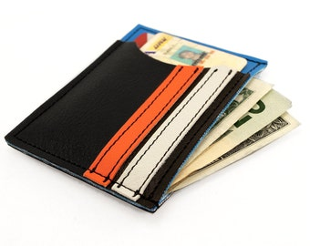 Reuben Slimline Wallet With Racing Stripes - Keepin it Slim