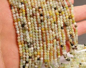 Amazonite - 3mm round beads -1 full strand - 130 beads - flower amazonite