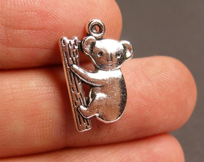 12 Koala bear charm - Tibetan silver tone koala bear  charms -  ASA91