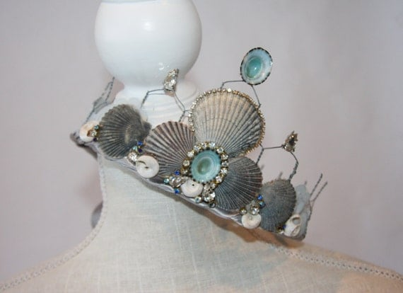 Fancy Seashell Crown - Celebration Crown - From the Sea - Mermaid Blue