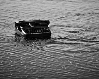 Typing on Jetsam - Ocean of Words 8x10 Inch Photographic Print