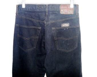 Vintage 90's Men's Italian Designer Jeans in Black by Energie Karpacho Waist 31