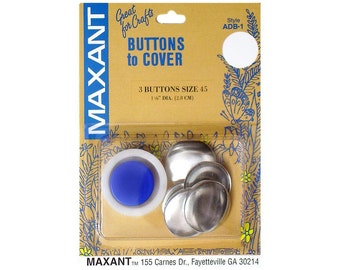 Buttons to Cover Maxant Size 45 Kit Half Ball Mold Pusher 1 1/8""