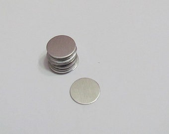 "1/2"" Aluminum disc- 20 gauge - hand stamping blanks 5 or more"