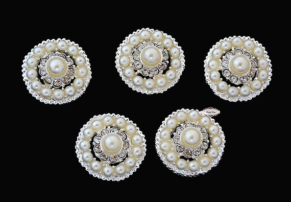 5 rhinestone pearl flat back buttons pearl embellishments for Best glue for pearl jewelry