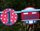 I am 1 Choo Choo Train Birthday Banner MADE TO ORDER