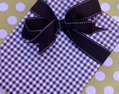 Black Gingham Premium Wrapping Paper