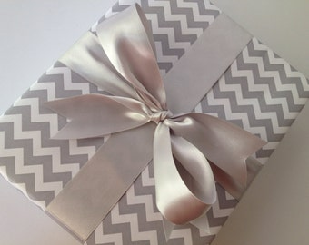 Grey Chevron Premium Wrapping Paper
