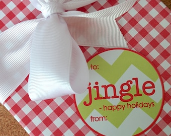Jingle Christmas Labels