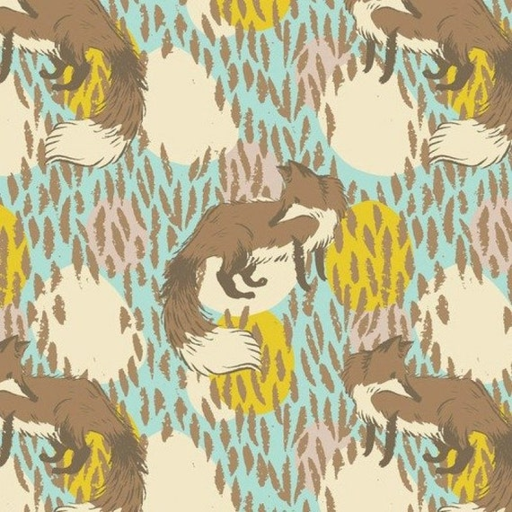 Timber and Leaf Playful Fox Sarah Watts Blend Fabrics FQ or more