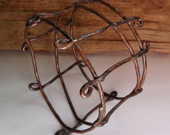 Copper Wire Bangle, Hammered Wire Bangle, Bangle Bracelet
