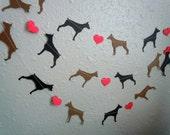 Doberman Love Paper Garland - Valentine's Day Decor - Choose Your Colors