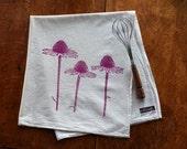 Coneflower Flour Sack Tea Towel - Hand Screen Printed - Hostess Gift - Mothers Day - Echinacea Flowers