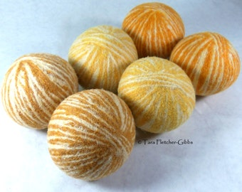 Wool Dryer Balls - You Are My Sunshine - Set of 6 - An Eco-Friendly Alternative to the Conventional Dryer Sheet and Fabric Softener!