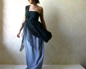 Wedding dress, Wedding gown, Boho wedding dress, Custom wedding dress, one shoulder dress, fairy dress, empire wedding dress, Silk dress
