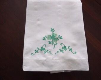 IRISH Shamrock Vintage pillowcase-Free Shipping