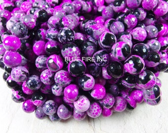 37 pcs 10mm round faceted agate beads