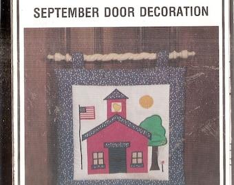 Schoolhouse Door Decoration Sewing PATTERN, uncut  Connie's Chicken coop 1979