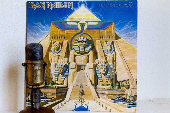 "Iron Maiden Vinyl Record Album 1980s British Heavy Metal Hard Rock Bruce Dickinson Steve Harris,""Powerslave"" (Original 1984 EMI Records)"
