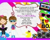 1980's Invitation 80's theme party - Digital File