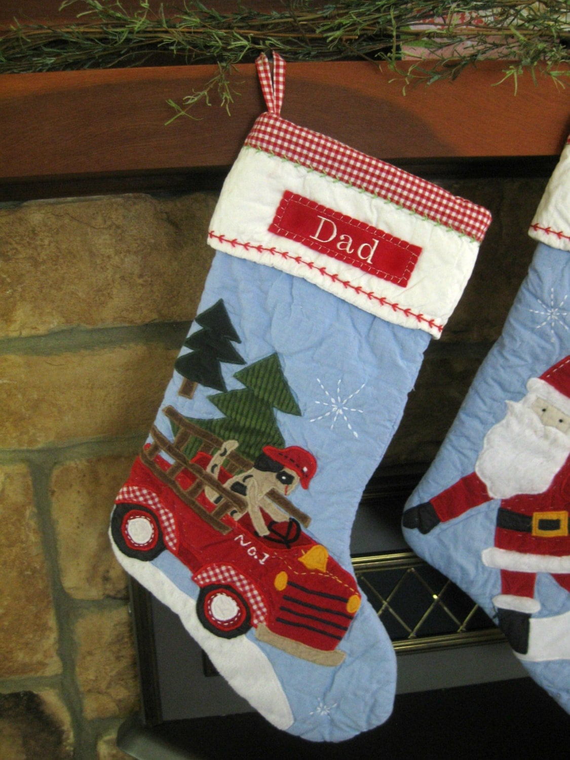 Christmas Stocking Pottery Barn Quilted Stocking Dog On