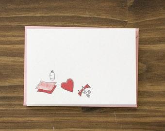 cut paper valentines