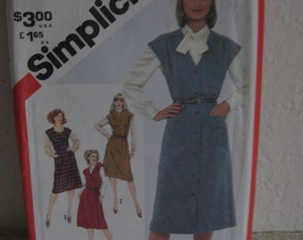 Sewing pattern, Simplicity 5196 Sizes 12 - 16, uncut, set of jumpers