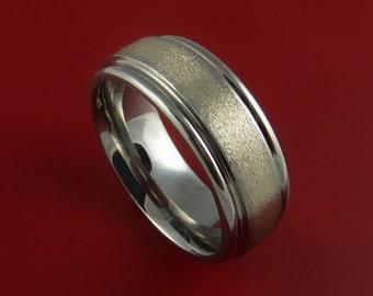 Titanium and White Gold 3mm Inlay Custom Made Band Any Finish and Sizing 3 to 22