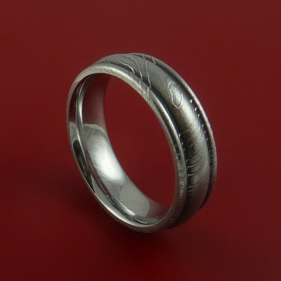 Damascus Steel Ring Wedding Band Genuine Any by ...