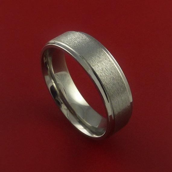 Titanium Wedding Band Engagement Rings Modern Made to Any Sizing and Finish 3-22