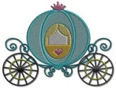 Princess Carriage Embroidery Design