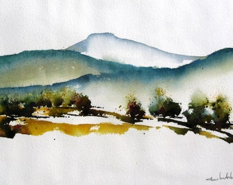 Valles III - Original Watercolor Painting