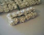 Mini Paper Flowers White