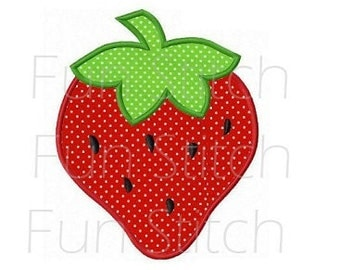 strawberry applique machine embroidery design