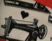 Sewing Machines in Black Fleece Scarf