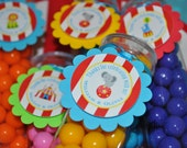 Circus Party Favor Tags - Carnival Birthday - Circus Birthday Party Decorations - Kids Circus Party Favor Tags - Set of 12