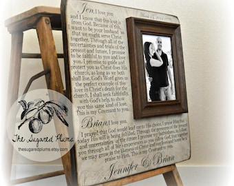 Wedding Vows, Framed Wedding Vows, Unique Wedding Gift, Wedding Vows Print, Anniversary Gift, Custom Wedding Frame, 16x16 The Sugared Plums