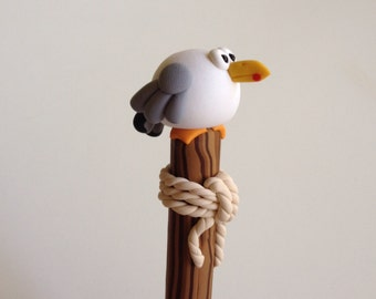 Polymer Clay Seagull Ballpoint Pen