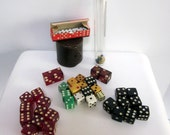 55 vintage die DICE  pop art BAKELITE LUCITE Black WHite  jumbo mini leather case  instant collection jumbo and oversized huge large lot