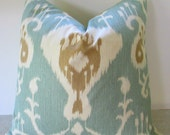 Ikat   Pillow. All Sizes, Fabric Both Sides,Your Choice Size and Fabric