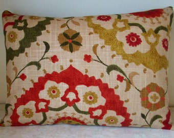 SALE One 12 x 16 Lumbar  Pillow Cover Richloom Suzani