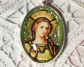 St. Cecelia glass pendant