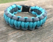 Turquoise and Grey ParaCord Bracelet