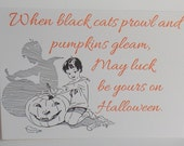SALE Set of Halloween Cards, Pumpkin Carving, Halloween Letterpress Cards, Printed Card, Clearance, Letterpress Stationary, Greeting Card