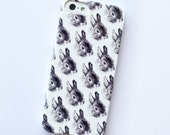 bunny phone case - iphone 5 / 5S - rabbit - 4 / 4S samsung galaxy S3 / S4 bunny rabbits
