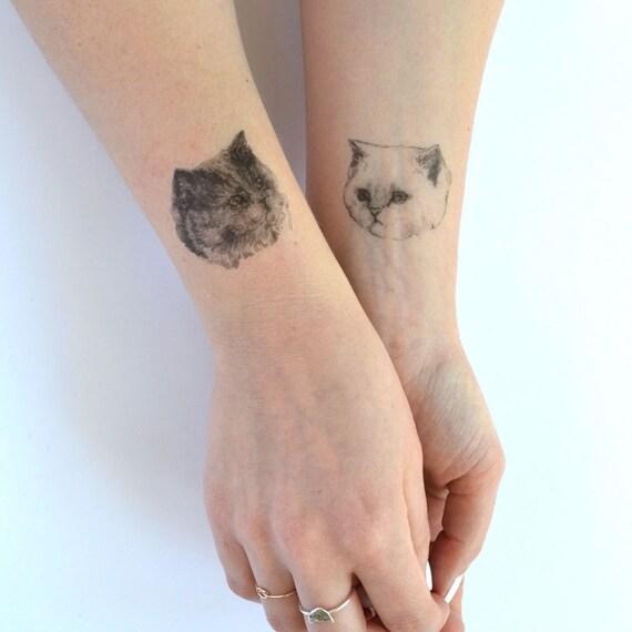 Assorted cat fake tats
