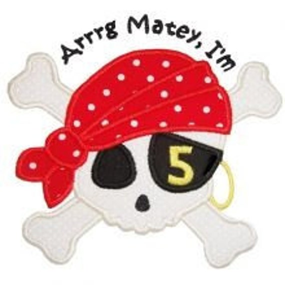 Arrrg, Matey Pirate Birthday Shirt Personalized Shirt  - Skavenger Hunt - Pirate Party 12 Months 18 Months 2t 3t 4t 5t 6 8 10