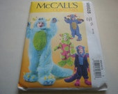 Pattern Costume Child Monster Outfits 4 Styles Sizes 6-7-8 McCalls 6628 A