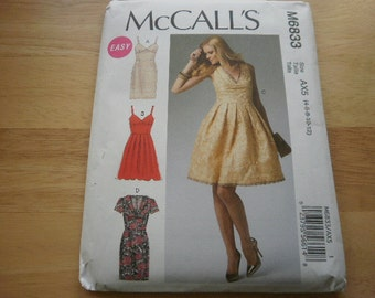 Pattern Ladies Dress 4 Styles Sizes 4 to 12 McCalls 6833
