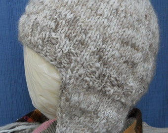 Knitted Adult Ear Flap Hat